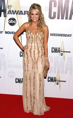 2007 CMA Awards from Everything Carrie Underwood Has Ever Worn at the CMA Awards  In Badgley Mischka