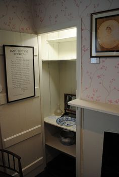 In Jane Austen's bedroom. Jane Austen's House: Chawton Village
