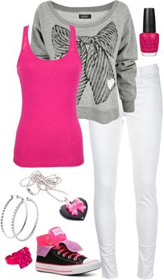 """""""Untitled #278"""" by theheartsclubqueen on Polyvore  I don't like the cheap looking jewelery but the rest is great"""