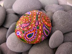 with paint...or beads even?  #pebbles, #rocks, #stones