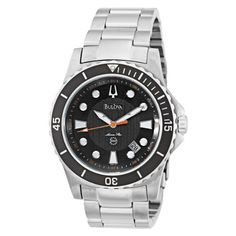 Bulova Men's 98B131 Marine Star Black Dial Bracelet Watch Bulova. $206.25. Save 25%!