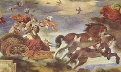 Картинки по запросу palazzo pallavicini-rospigliosi Fresco by Guido Reni ''Aurora''