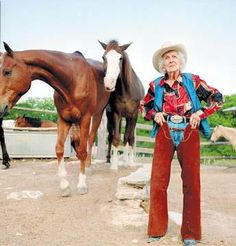 """At 101 years old, Connie Reeves was still riding her horse every day. she was a huge inspiration to many people. her health was great and her mind was sharp. someone once asked her what her secret to longevity was. she said: """"Well honey, you just don't let that rocking chair take over…you get up and go even if you don't want to."""""""