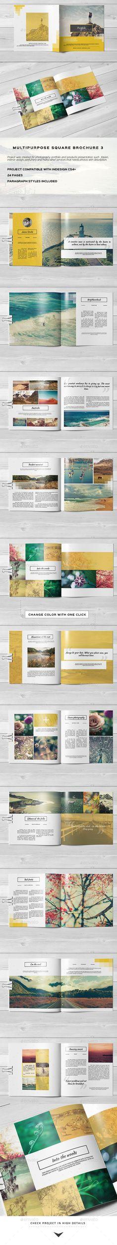 Multipurpose Square Brochure Template #design Download: http://graphicriver.net/item/multipurpose-square-brochure-3/11713434?ref=ksioks
