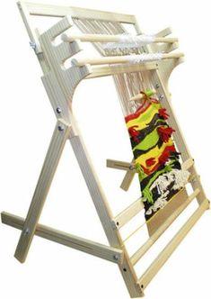 telar vertical  madera artesanal