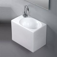 Lille rektangulær håndvask til det lille badeværelse fra Italien