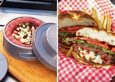 + Criatividade :   Conheça o Stuff-A-Burger Press, a melhor forma de fazer o seu próprio hamburguer recheado!
