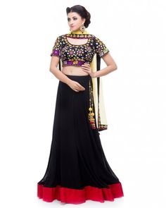 Multi Coloured Lehenga. Inspired by the Gujarati Garba Festivities, this multi-coloured lehenga features a fully embroidered Blouse in shades of Yellow, Lime, Purple & White with a dori in the back.   Now available on Sololook.com #Lehenga #Traditional #DesignerWear #Ootd #Potd #Designer #FashionDesigner #IndianDesigner #ShopNow #Sololook