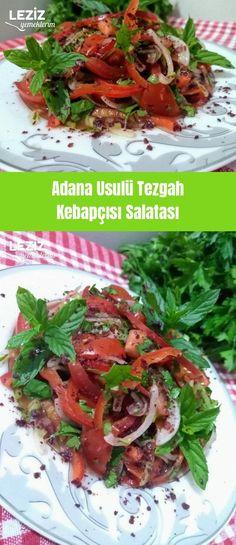 Adana-Art-Bank-Kebab-Salat - mein köstliches Lebensmittel - Popular Post X Healthy Eating Tips, Healthy Nutrition, Healthy Dinner Recipes, Soup Recipes, Salad Recipes, Diet Recipes, Big Meals, Kebabs, Food Hacks