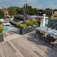 Dachterrasse Gestalten: 37 Ideen Für Pflanzen Und Sichtschutz ... Moderne Dachterrasse Gestalten Ein Gruner Zufluchtsort Grosstadt