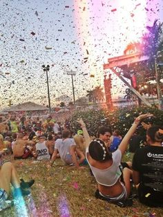 feeling good, its confetti! Dancing and singing away like crazy people in a magical storm of sparkles