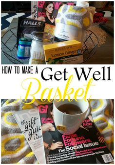 How to Make A Get Well Basket - Cold and flu season is here! Help brighten someone's spirits with a little care package. These are my favorite cold and flu essentials, but this basket idea can be modified for any illness. PS: That plush throw is AMAZING! An Exercise In Frugality #MeAndMyTea #ad