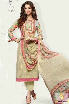 Latest salwar suits in white red santoon chiffon fabrics. This ...
