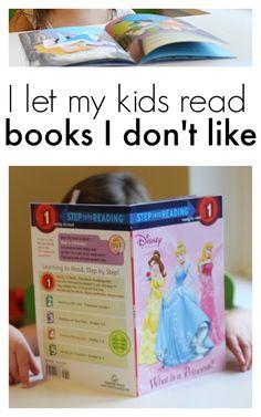 I let my kids read books I don't like.