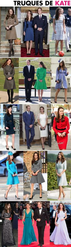 KATE MIDDLETON E O TIPO FÍSICO DO TRIÂNGULO INVERTIDO