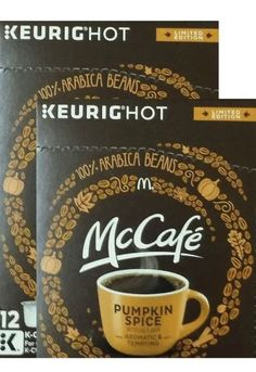 McCafe PUMPKIN SPICE Coffee KEURIG K-Cup 54 Pods ARABICA 3 Boxes Of 18 | Home & Garden, Food & Beverages, Coffee | eBay!