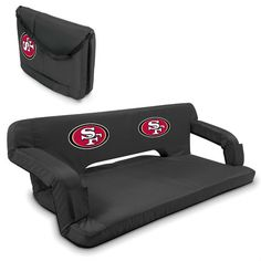 San Francisco 49ers Black Reflex Portable Couch at www.SportsFansPlus.com