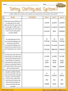 math worksheet : 1000 images about november activities on pinterest  thanksgiving  : Thanksgiving Math Worksheets Middle School
