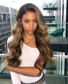 #Chinalacewig Ombre Color Brazilian Virgin Human Hair Body Wave 360 Lace Front Wigs With Pre-Plucked Hairline For Black Women #haircolor #hairstyle #bodywavehair #lacewig #lacefrontwig #virginhumanhair #colorfulwig #wiginstall