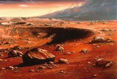 Space Art: Ludek Pesek Mars Painting