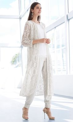 The Crochet Foil Topper | We have a habit of exaggerating hemlines, weaving little white lines and foiling everything.