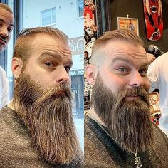 "This cut is called ""uncovering-the-necklace"" ✂️👌🏻 - finja Beard Growth Tips, Short Hair Cuts, Short Hair Styles, Beard Model, Epic Beard, Bald Men, Awesome Beards, Beard Trimming, Beard No Mustache"