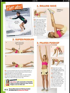 Flat abs (from Seventeen June/July 2013 issue). I like how these exercises are doable and a who lot less intimidating than something in fitness magazines or a gym class.