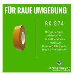 RK 874 - Doppelseitiges Klebeband für raue Untergründe #Klebeband #Doppelseitiges #Krueckemeyer #Raue #Untergründe #Outdoor #Adhesive #Tape