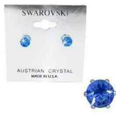 September Birthstone: Blue Sapphire Sapphires are symbolic of truth, sincerity, commitment and loyalty. Get these beautiful earrings at www.silvermonnbay.net #trendy #affordablejewelry
