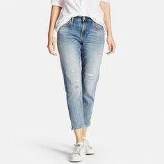 Uniqlo WOMEN SLIM BOYFRIEND FIT ANKLE JEANS Found on my new favorite app Dote Shopping #DoteApp #Shopping