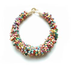 Colored Pencil Tip Bracelet by Iris Tsante