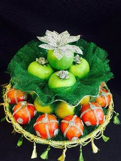 Jazz-up the fruits to match the rest of the festive mood at your wedding. www.shopzters.com