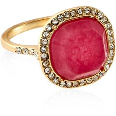 Accessorize Paradise Stone Cocktail Ring ($23) ❤ liked on Polyvore featuring jewelry, rings, cocktail ring, vintage style rings, stone jewelry, stone rings and stone jewellery