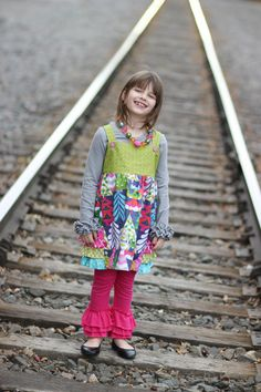 Girls Holiday tree jumper with ruffled bustle by treetopboutique