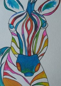 Color Wheel Zebra  has a how to...for drawing zebra