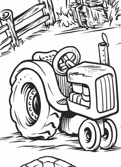 Tractor Coloring Pages :These tractor coloring pages printable will surely provide your boy with the sense of adventure he desires while also teaching him the finer art of coloring. Tractor Coloring Pages, Coloring Pages To Print, Coloring Book Pages, Printable Coloring Pages, Coloring Pages For Kids, Coloring Sheets, Kids Coloring, Bordados E Cia, Digi Stamps
