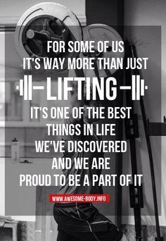 Lifting.