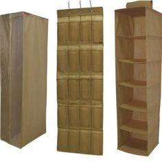 Merveilleux 3 Piece Storage Set Of Hanging Closet, Six Shelf Closet Organizer, And 20  Pocket Shoe Bag. Buy The Set And Save! | Storage Products | Pinterest |  Hanging ...