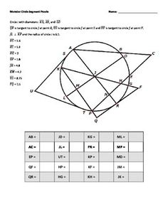 FREE Tangent lines to a circle properties foldable with graphic ...