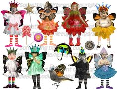 Altered Art Doll Fairy collage sheet by OldieButGoodie on Etsy