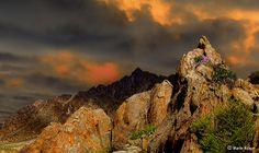 Sunset illuminating the Richtersveld Mountains, South Africa.