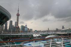 曇りの上海