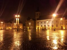 Sibiu at night Small Gifts, Places Ive Been, Contemporary, Mansions, Night, House Styles, Model, Little Gifts