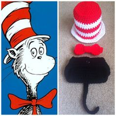 Crochet Cat In The Hat Outfit