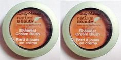 SALLY HANSEN Natural Beauty Sheerest Cream Blush SUNRISE #1010-10 (PACK OF 2 COMPACTS). Sally Hansen Natural Beauty Sheerest Cream Blush delivers the softness of a cream and the lightness of a powder. Imparts the sheerest wash of pure colour for the most translucent effect. Designed with micronized pigments for superior glide and maximum bendability.
