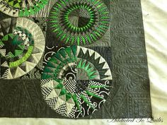 and more  [Piecing by Lou, Quilting by Desley of Addicted To Quilts.]