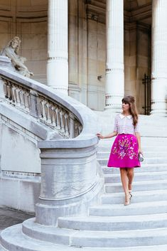 Pink blouse hot pink skirt   Jenny Cipoletti of Margo & Me