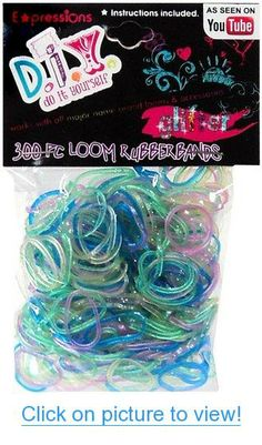 Expressions Girl / D.I.Y. 300-piece Glitter Latex-free Rubber Band Bracelet Loom Refill Pack #Expressions #Girl #D.I.Y. #300_piece #Glitter #Latex_free #Rubber #Band #Bracelet #Loom #Refill #Pack