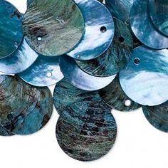 Sold per pkg of Mussels, Blue Beads, Art Supplies, Beading, Shells, Dangles, Drop, Flat, Color