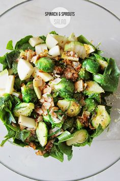 myLifebox: recipe | spinach & brussel sprouts salad